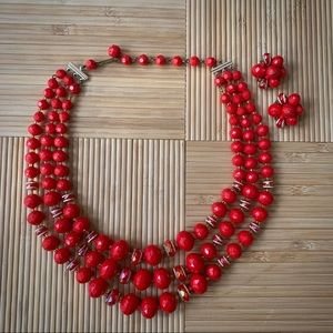 West Germany Mid-Century Beaded Necklace